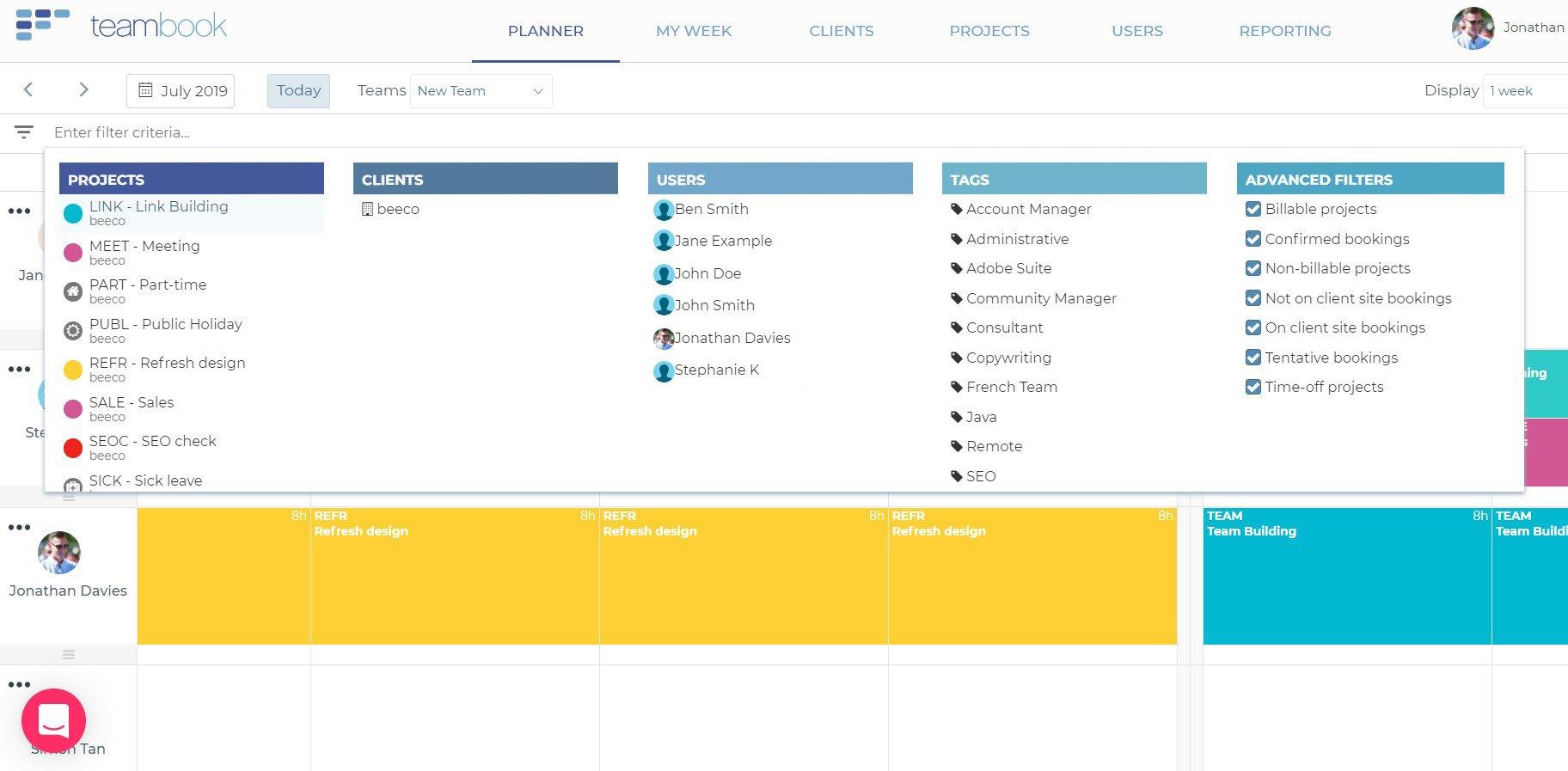 teambook-filters